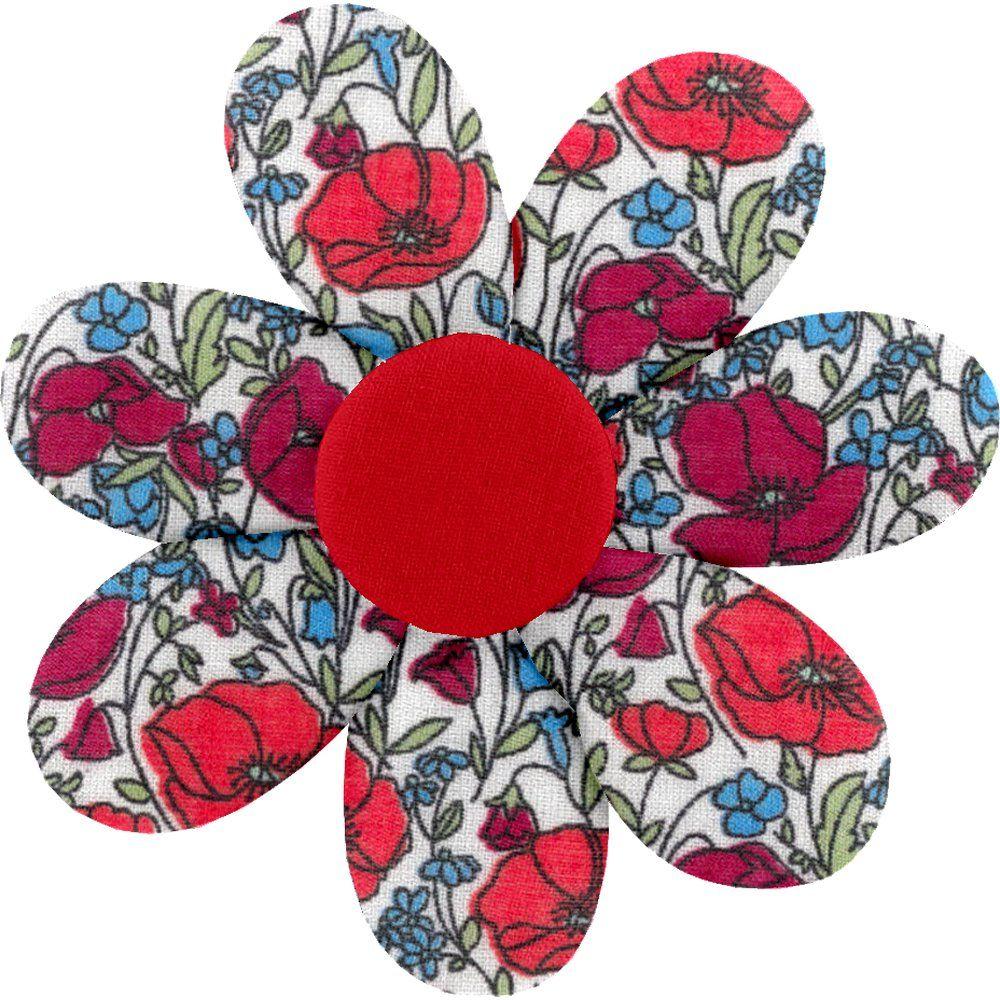 Pasador flor margarita  amapola