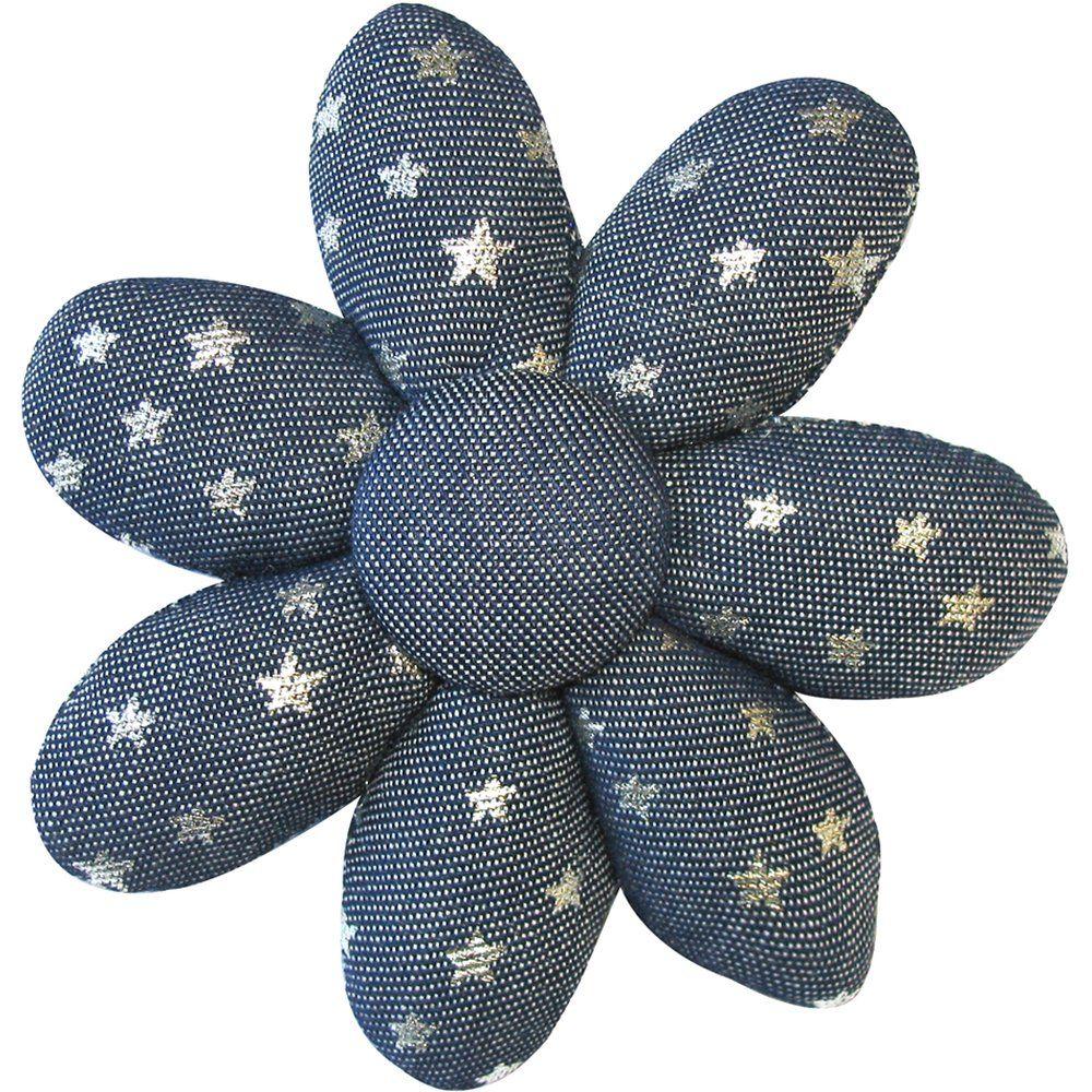 Barrette fleur marguerite etoile argent jean