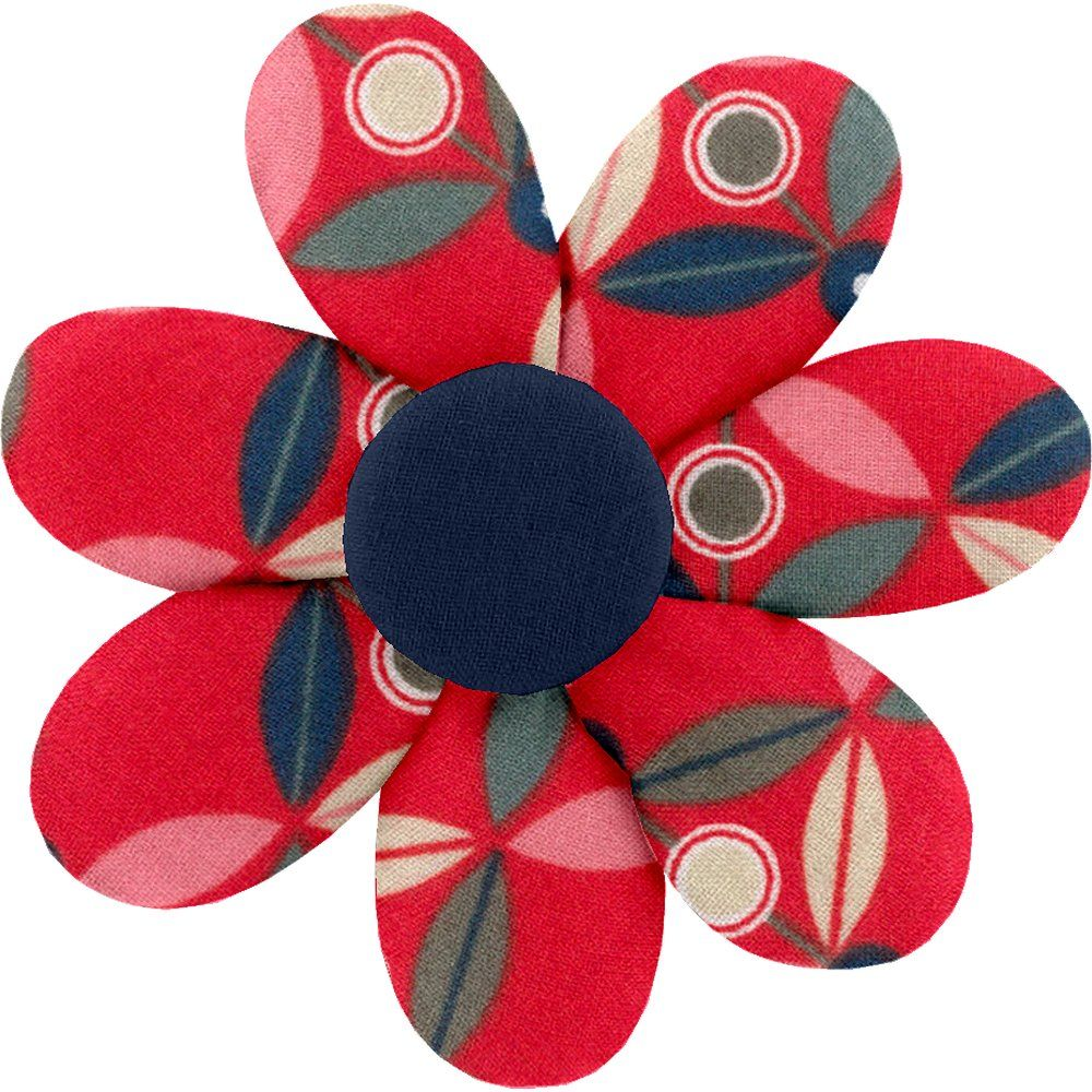 Fabrics flower hair clip paprika petal
