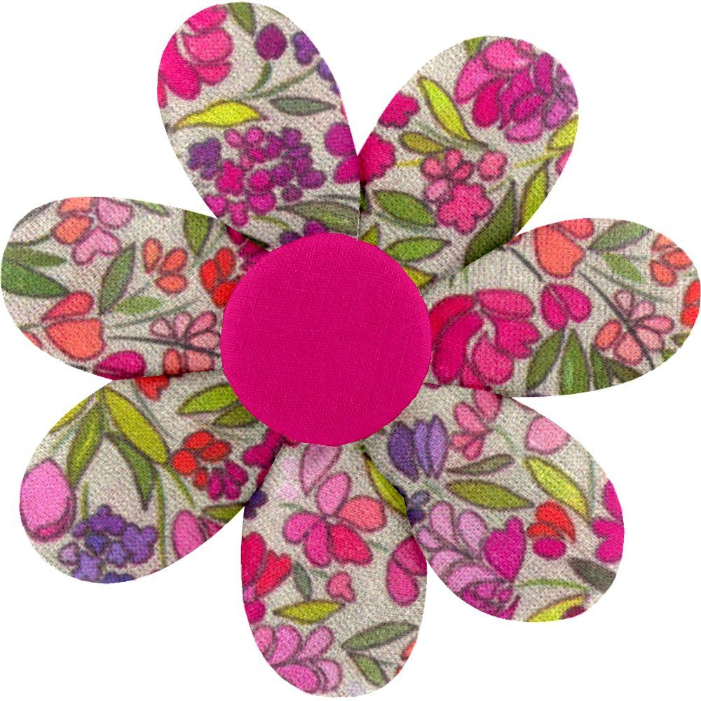 Fabrics flower hair clip purple meadow