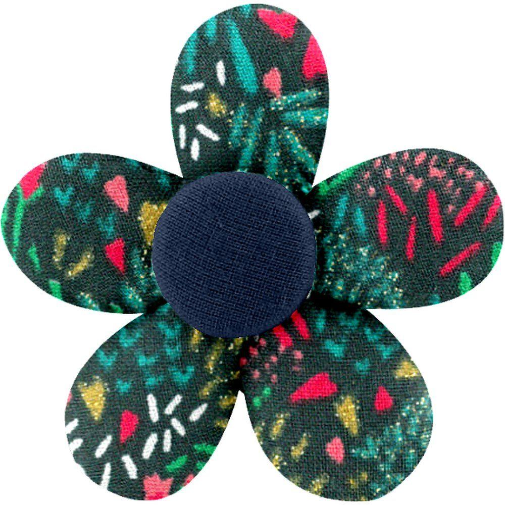 Petite barrette mini-fleur biche