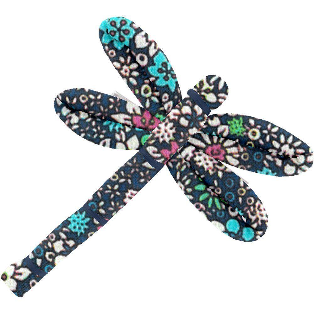 Barrette libellule milli fleurs vert azur