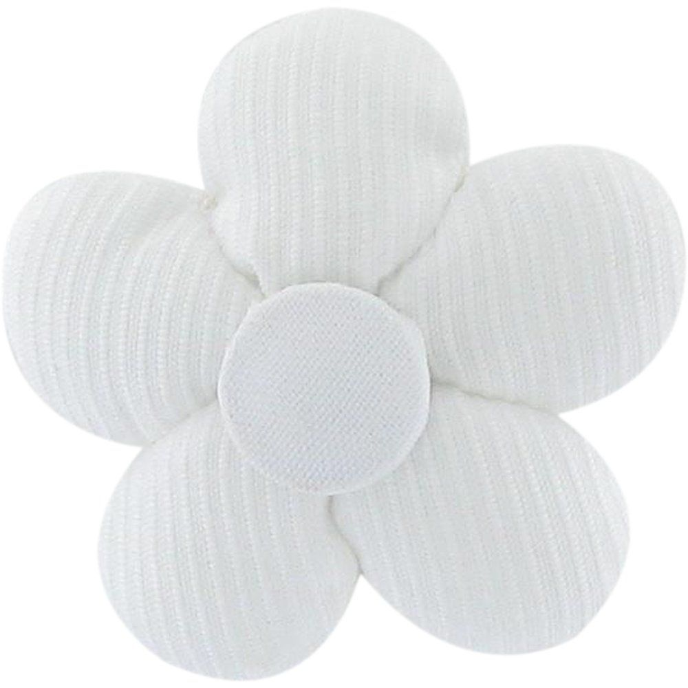Mini flower hair slide white