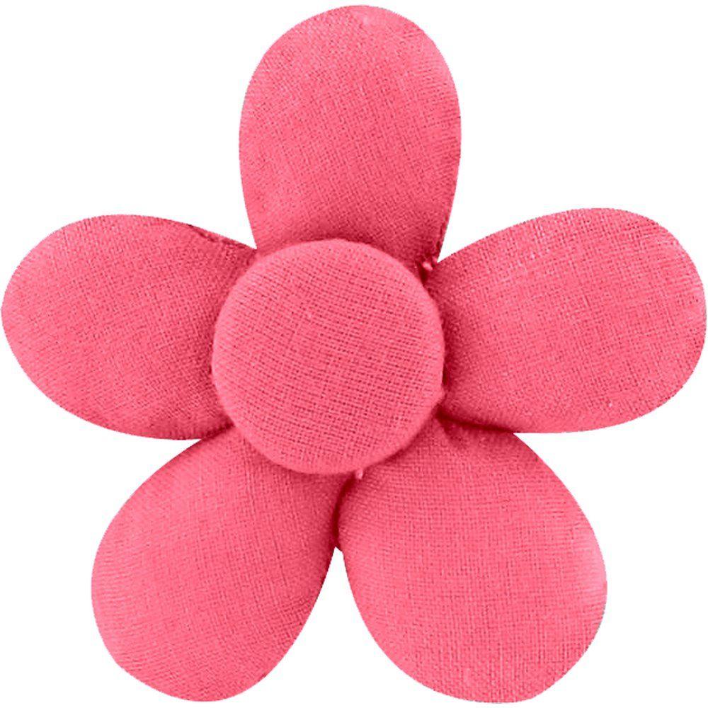 Petite barrette mini-fleur corail