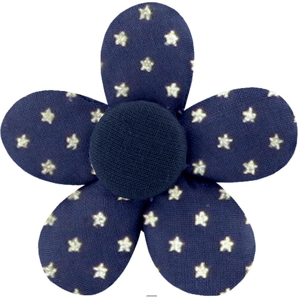 Petite barrette mini-fleur etoile marine or