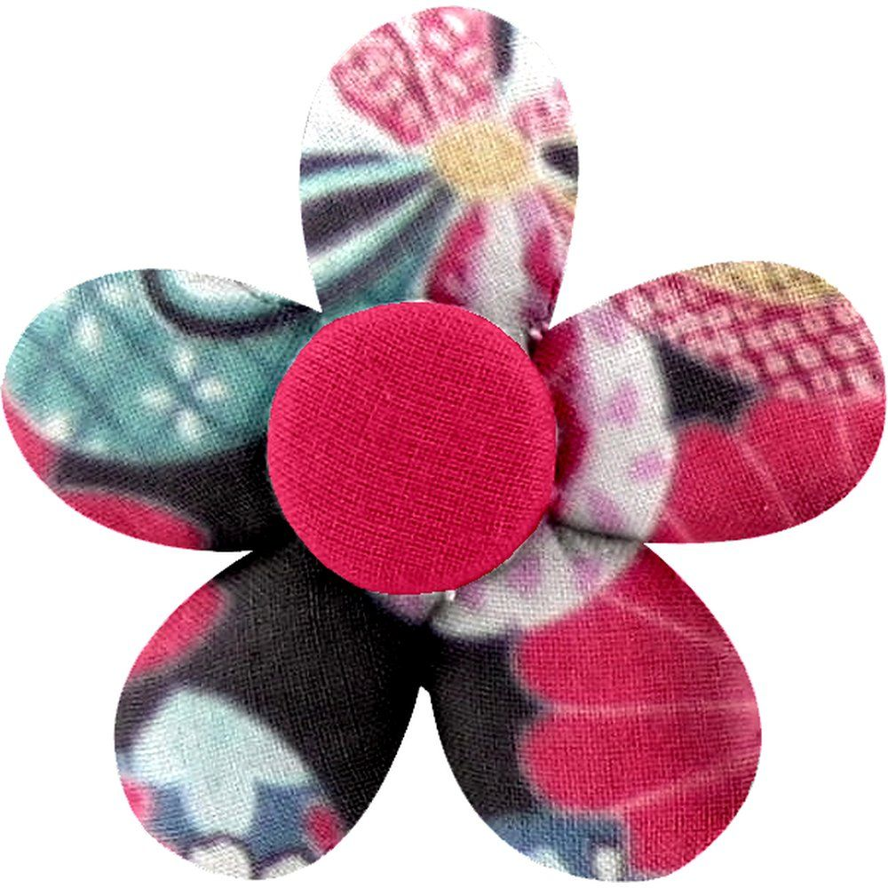 Petite barrette mini-fleur fleurs du mékong