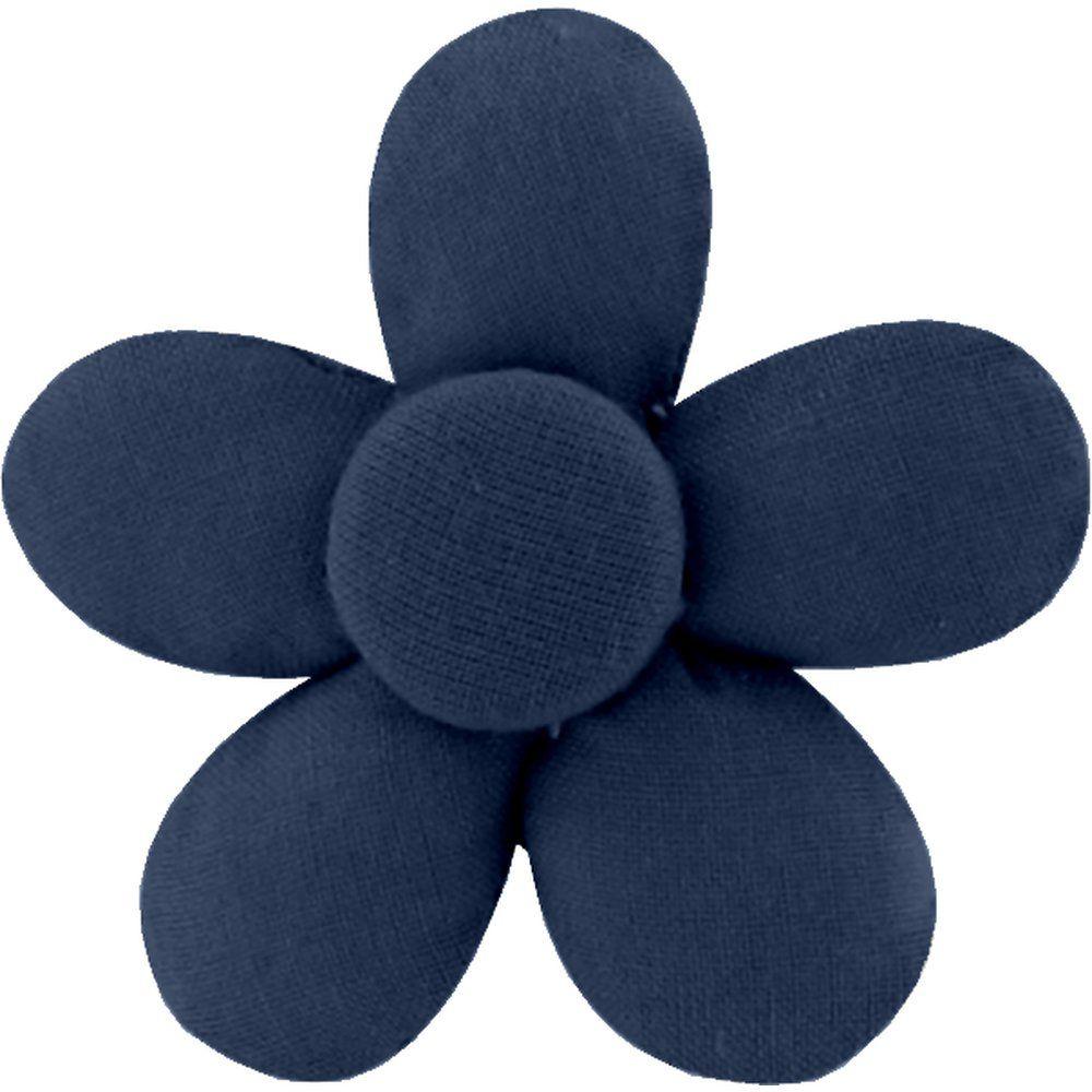 Petite barrette mini-fleur marine