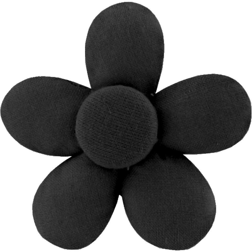 Petite barrette mini-fleur noir