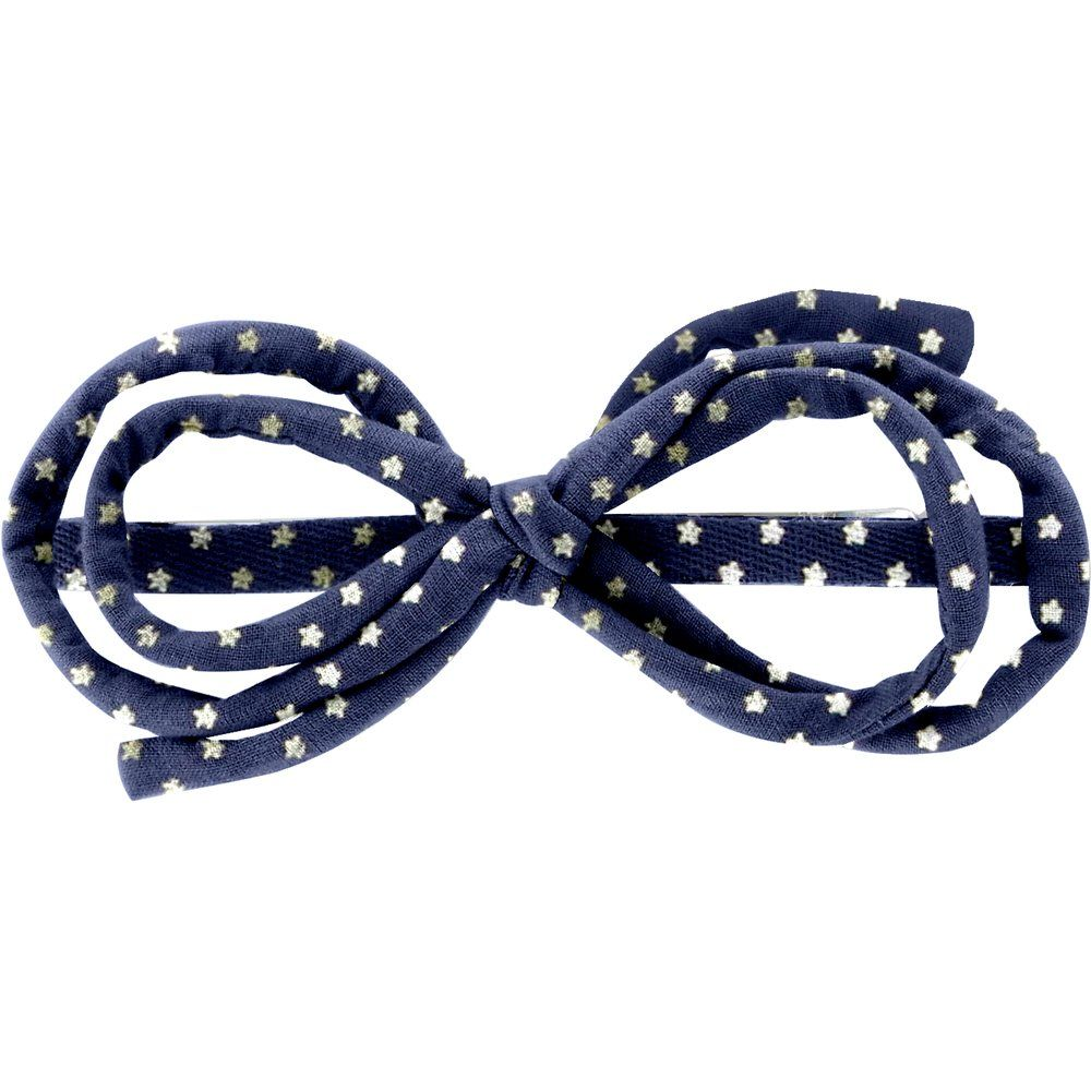 Arabesque bow hair slide etoile or marine