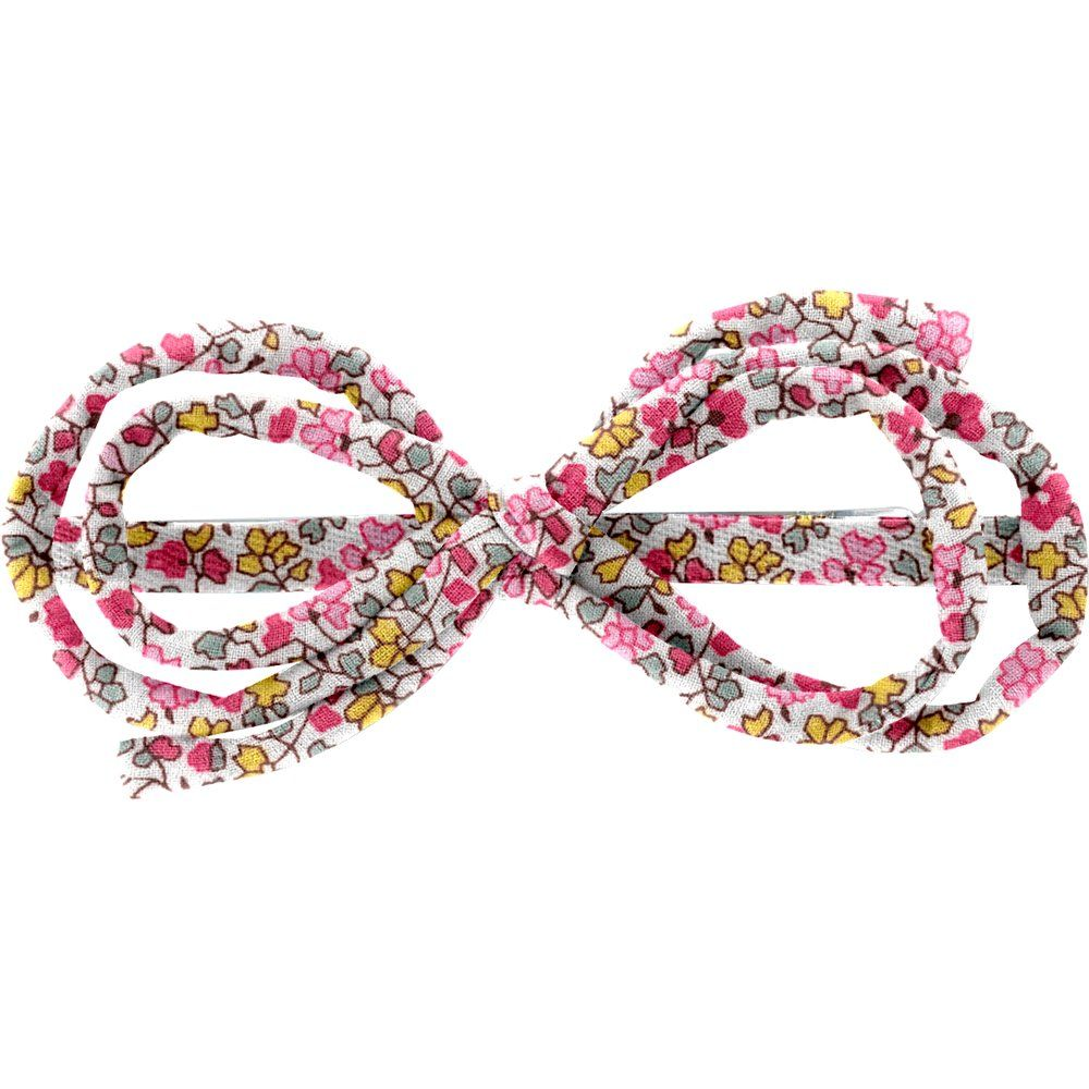 Barrette noeud arabesque jasmin rose