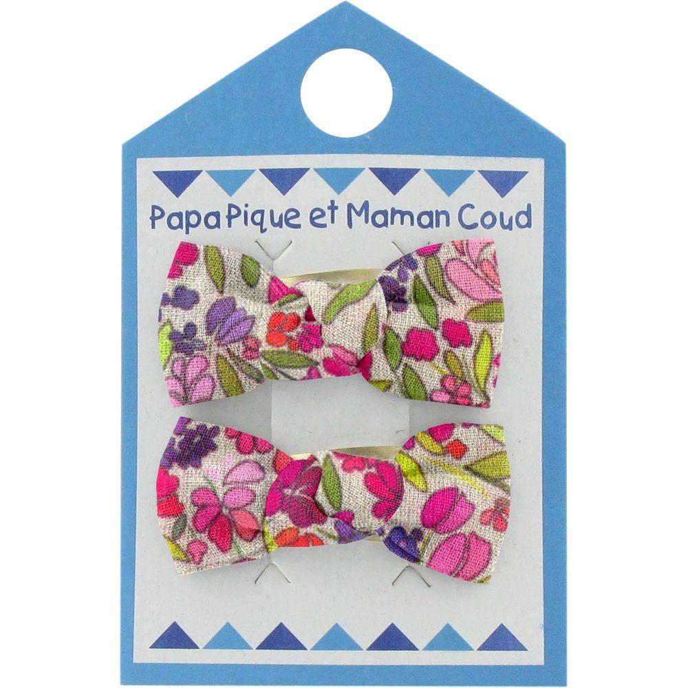 Pasador clic-clac lazos pradera púrpura