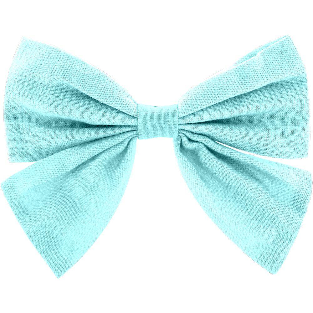 Bow tie hair slide azur