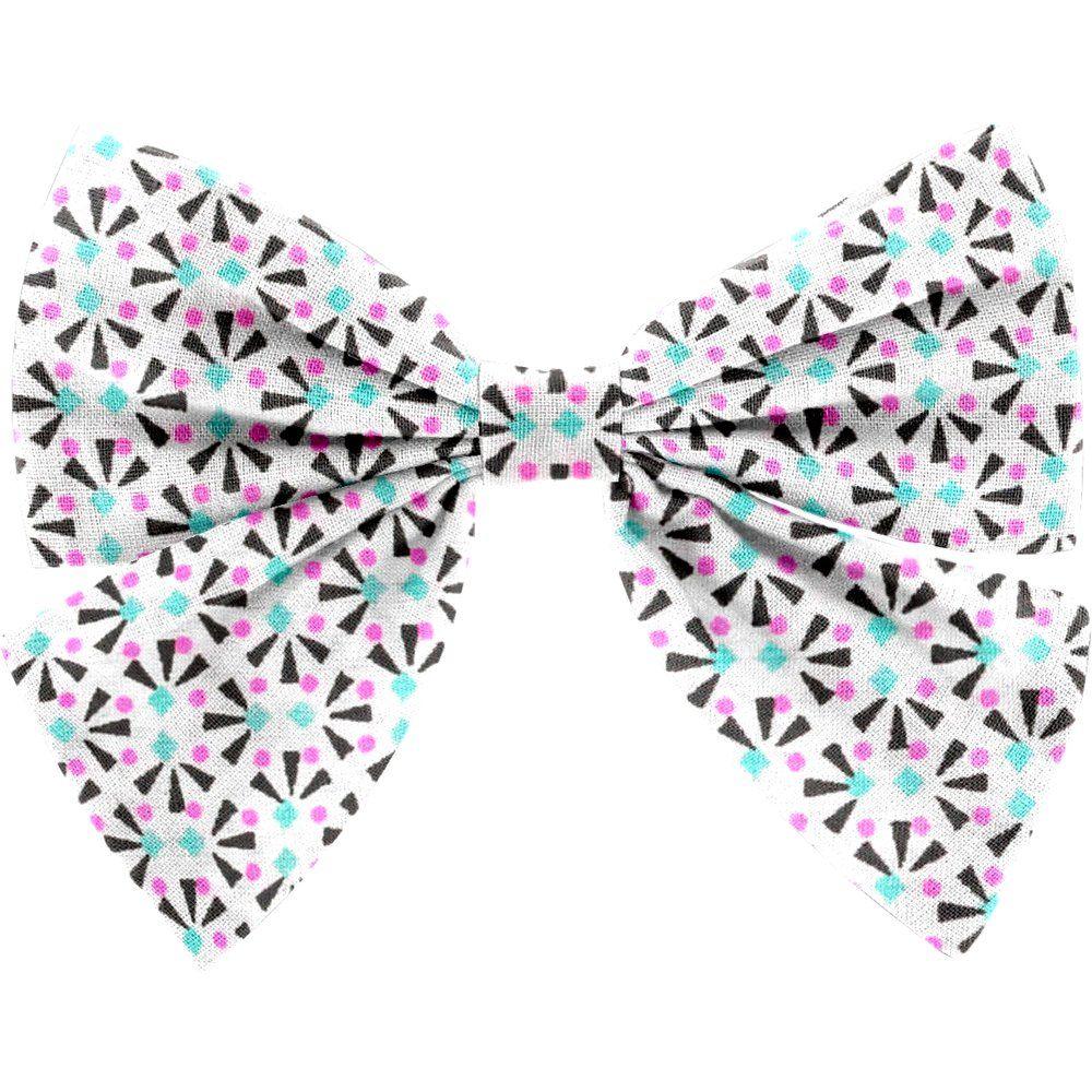 Bow tie hair slide neon shards