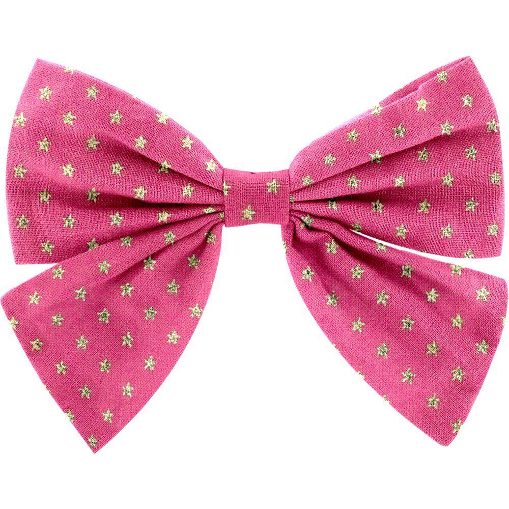 Bow tie hair slide etoile or fuchsia