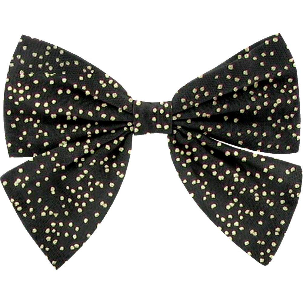 Bow tie hair slide noir pailleté