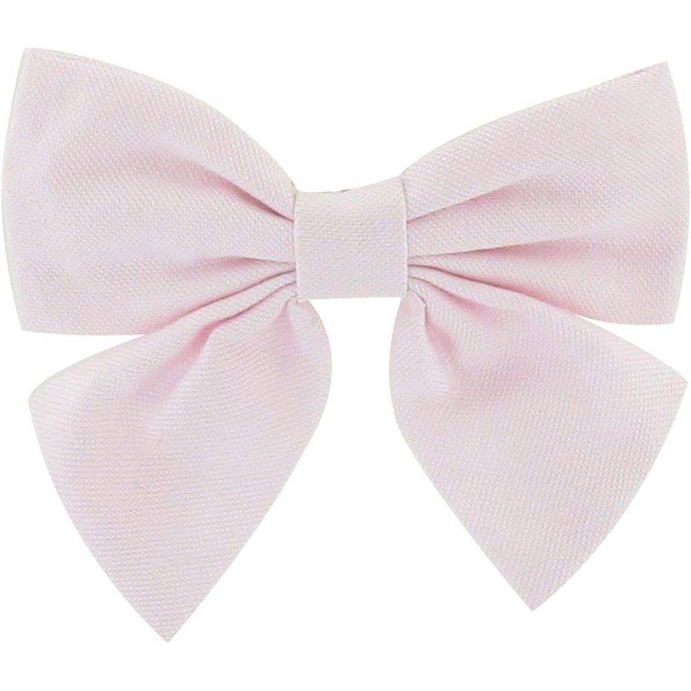 Bow tie hair slide light pink