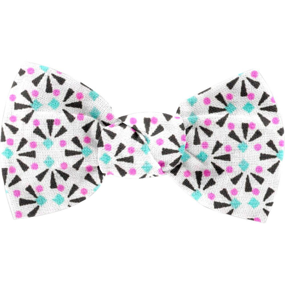 Small bow hair slide neon shards