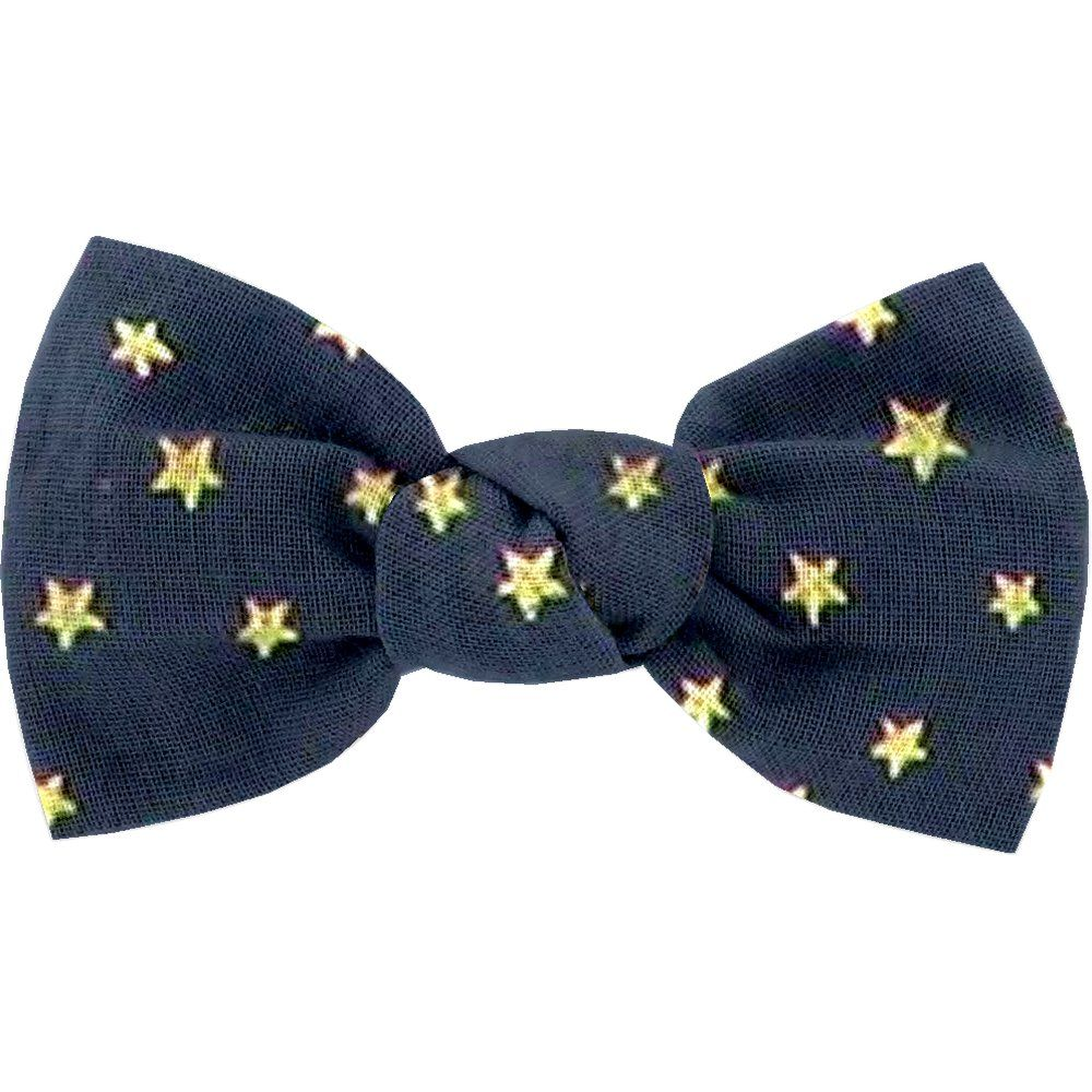 Small bow hair slide etoile or marine