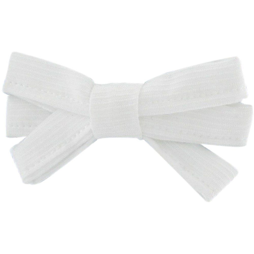 Barrette noeud ruban blanc - PPMC 30bb8db94ab