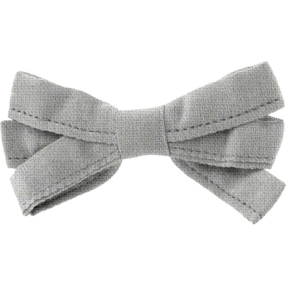 Ribbon bow hair slide grey