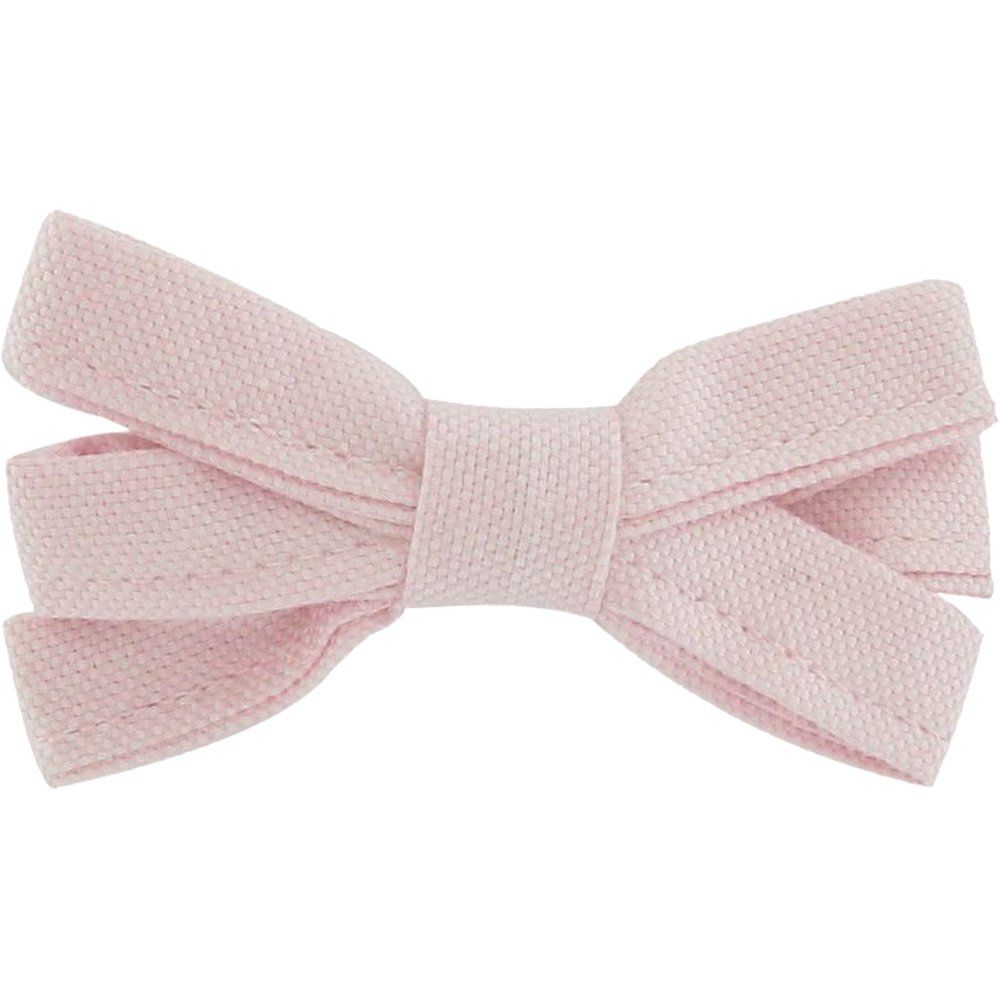 Barrette noeud ruban oxford rose