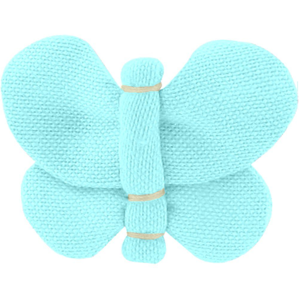 Butterfly hair clip azur
