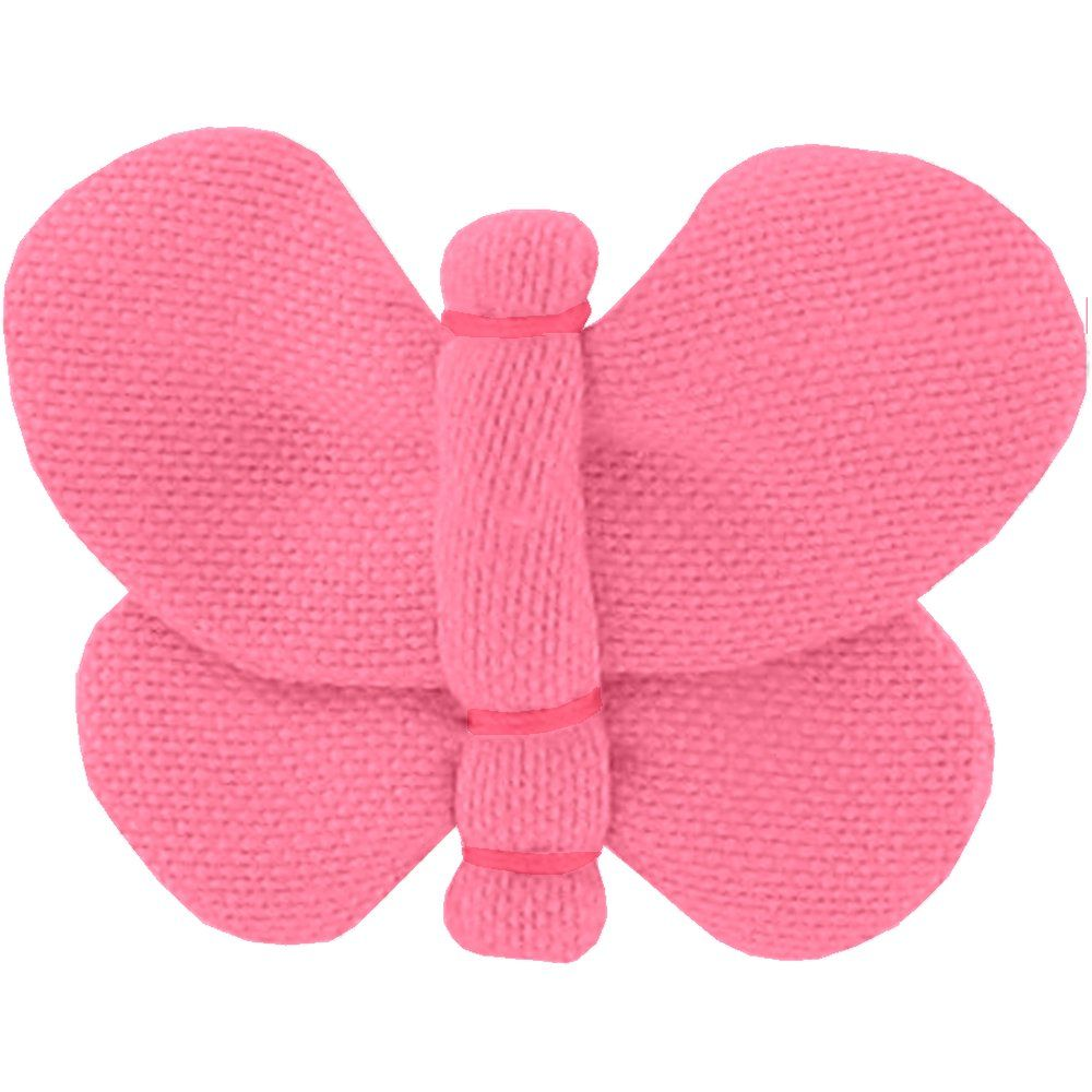 Butterfly hair clip coral