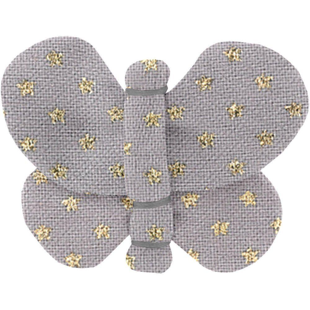 Pasadores de mariposa etoile or gris