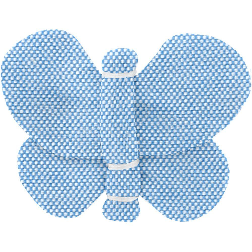Butterfly hair clip oxford blue