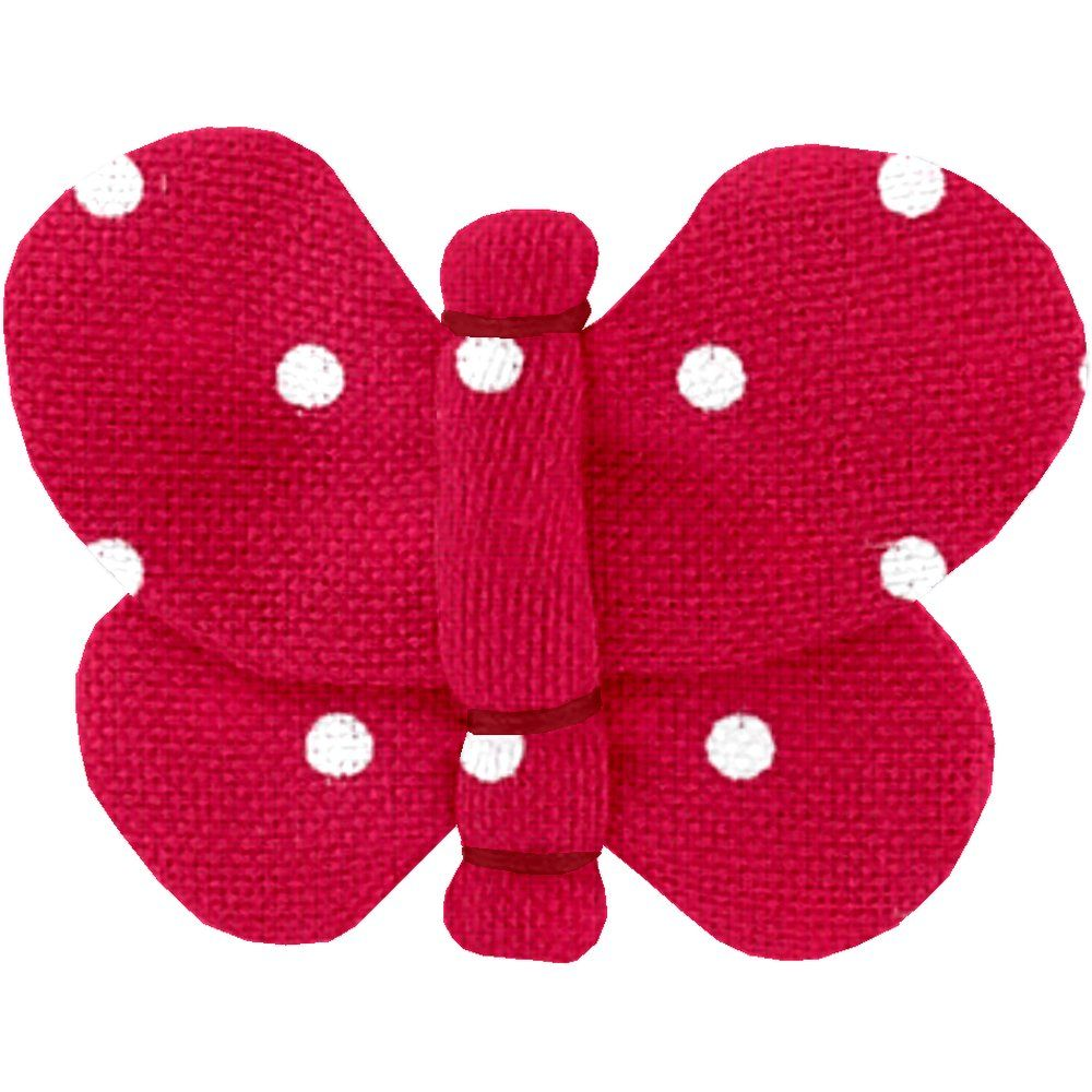 Butterfly hair clip red spots