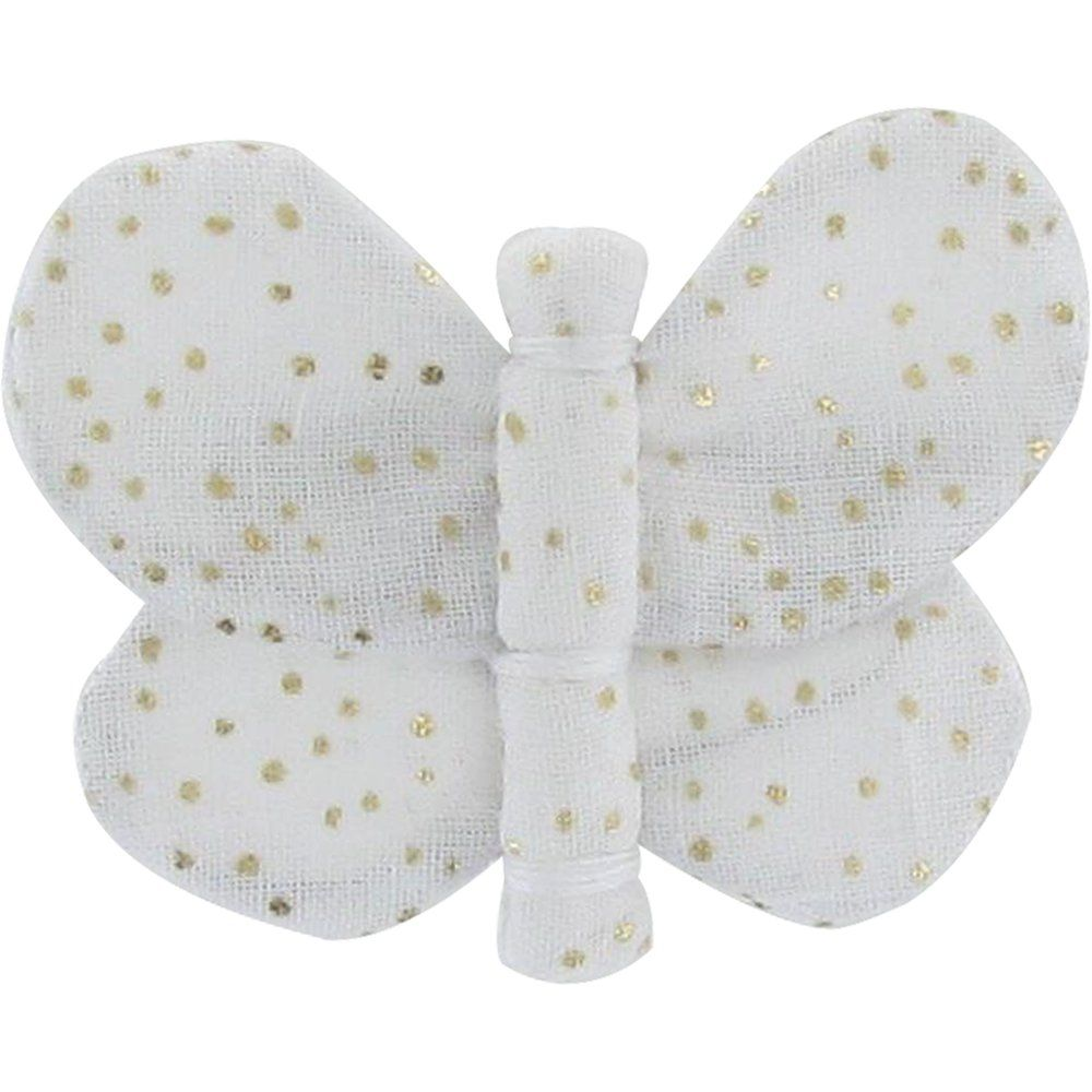 Butterfly hair clip white sequined