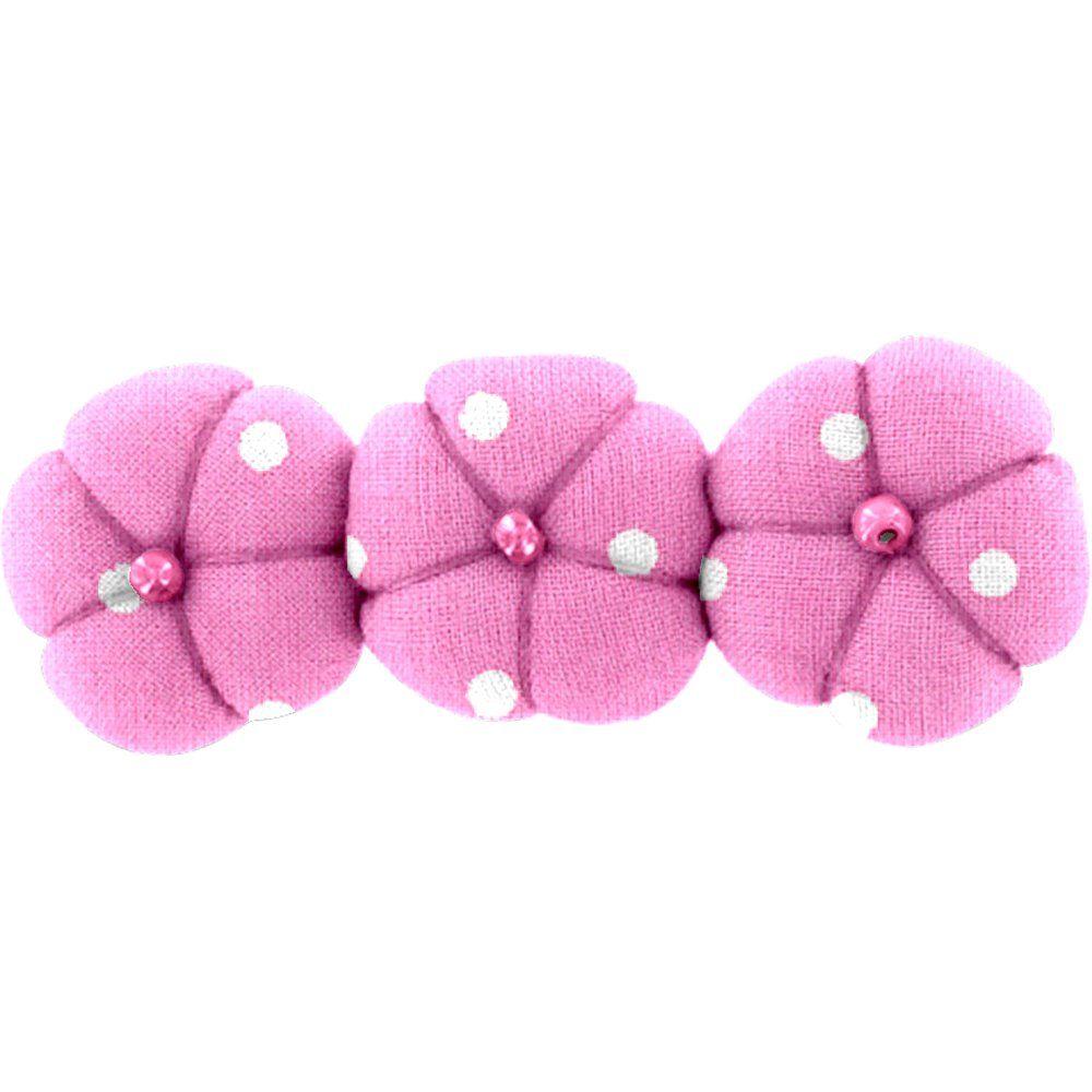 Pasador pequeño calabaza lunares rosas