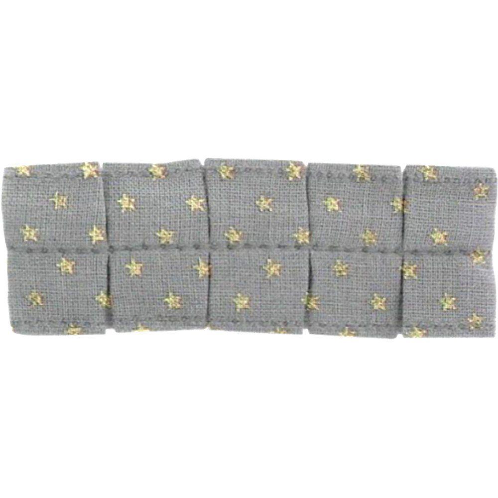 Petite barrette plissée etoile or gris