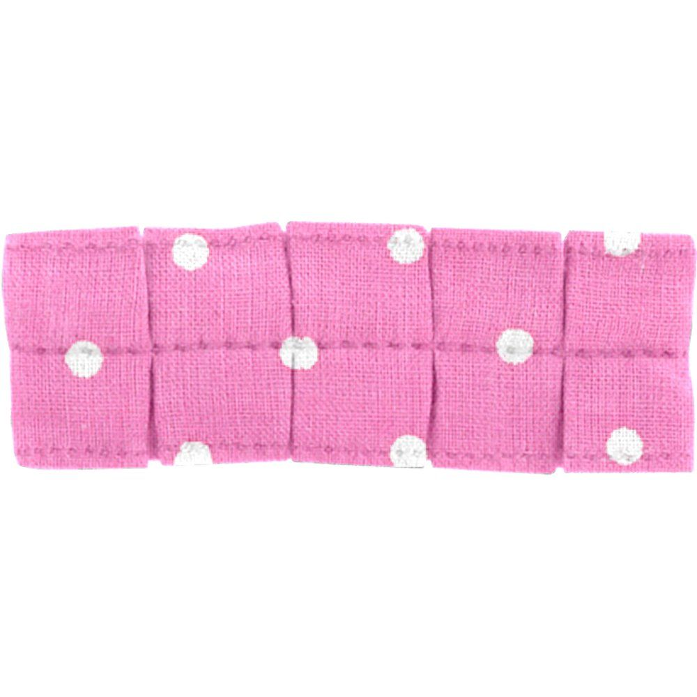 Small pleated hair slide pink spots