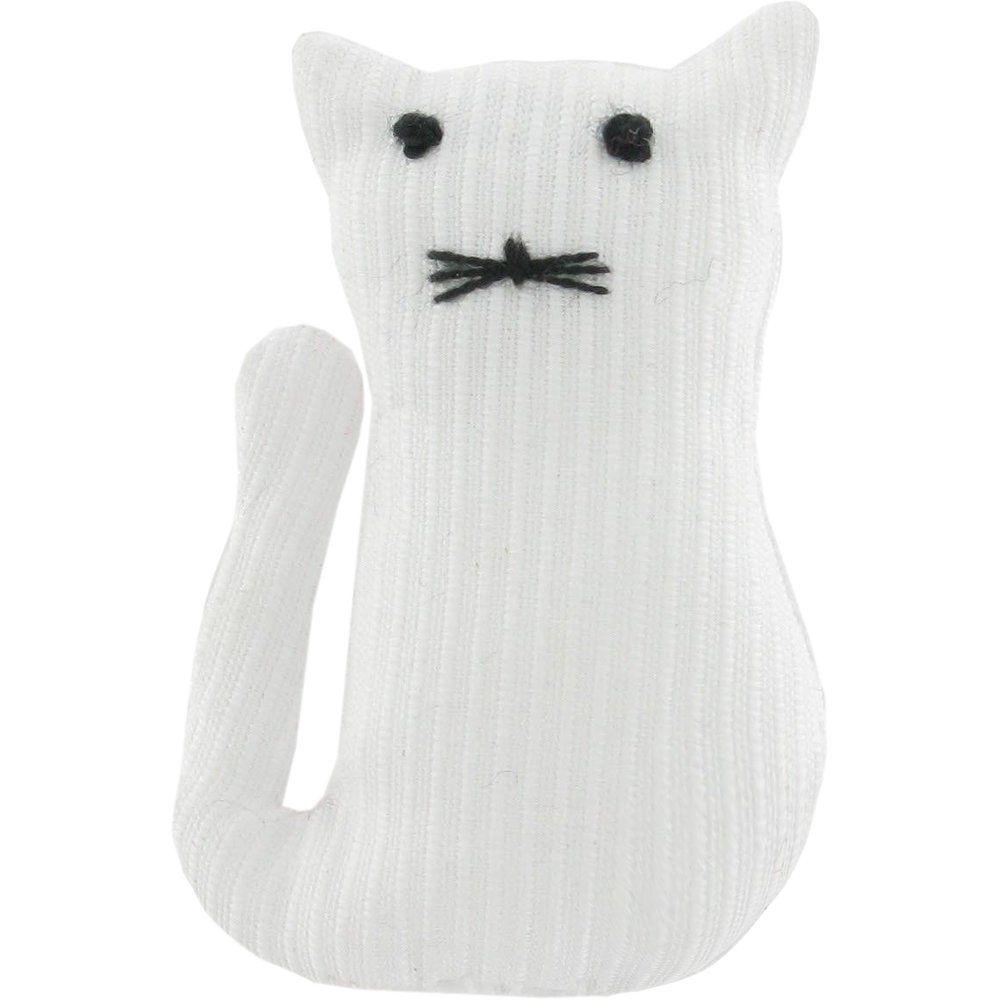 Petite barrette chat blanc
