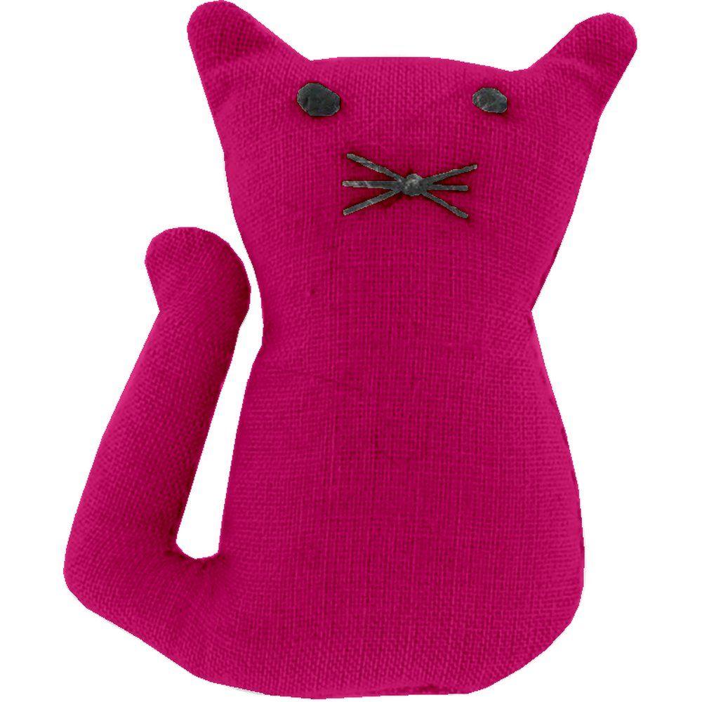 Petite barrette chat fuchsia