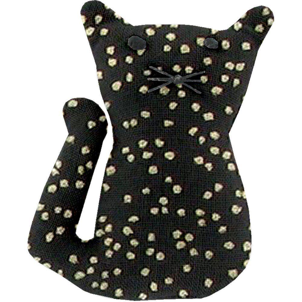 Petite barrette chat noir pailleté