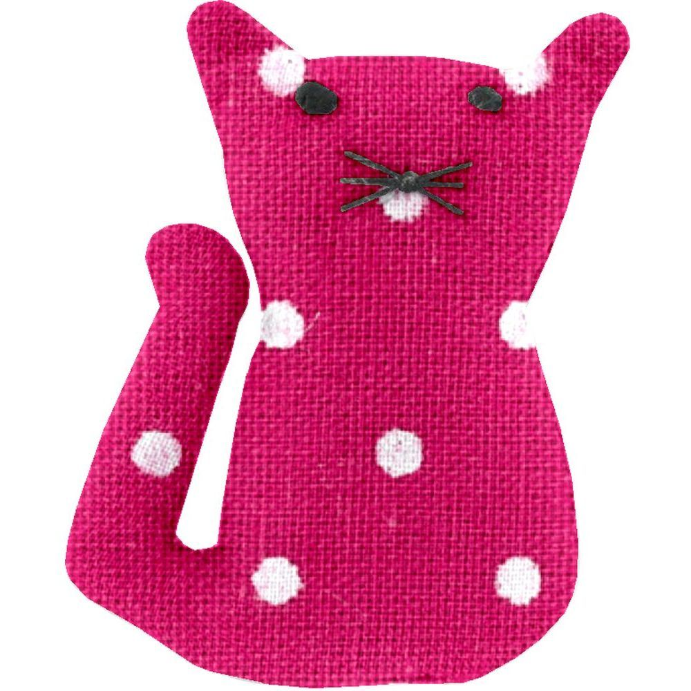 Small cat hair slide fuschia spots