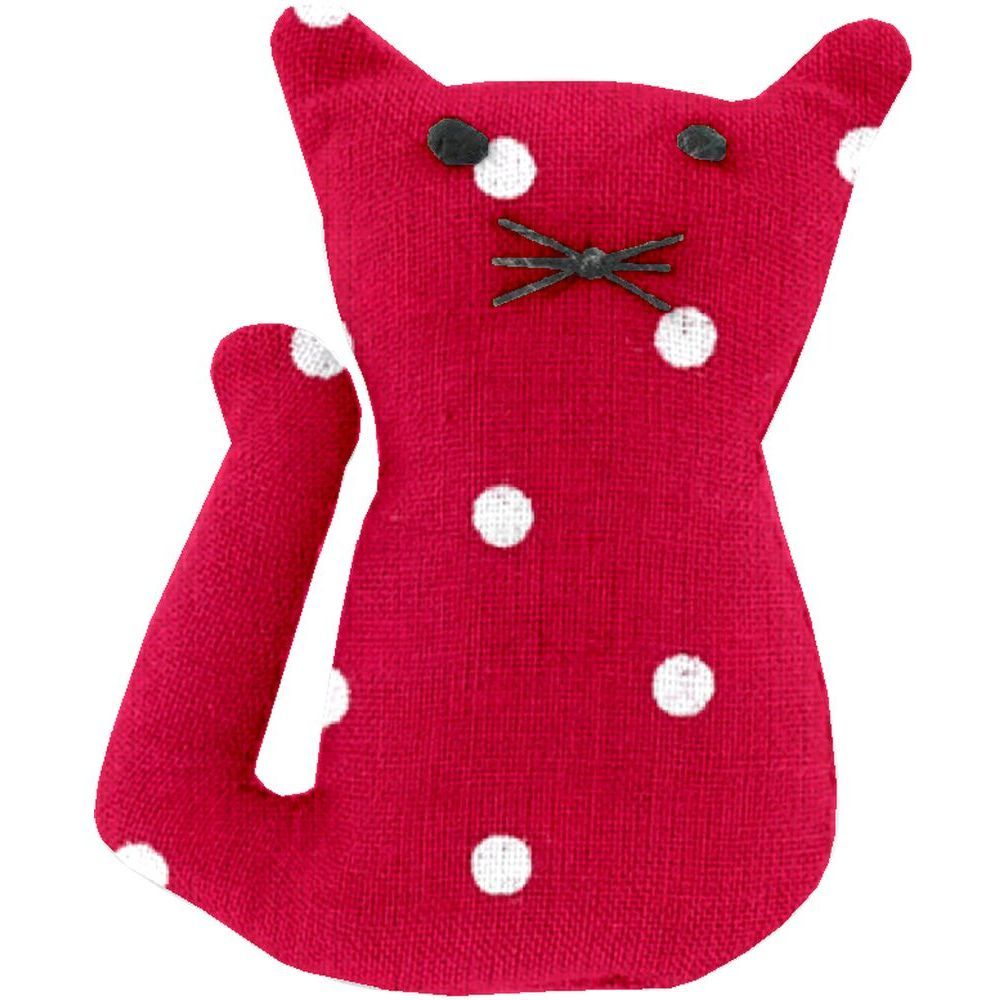 Small cat hair slide red spots