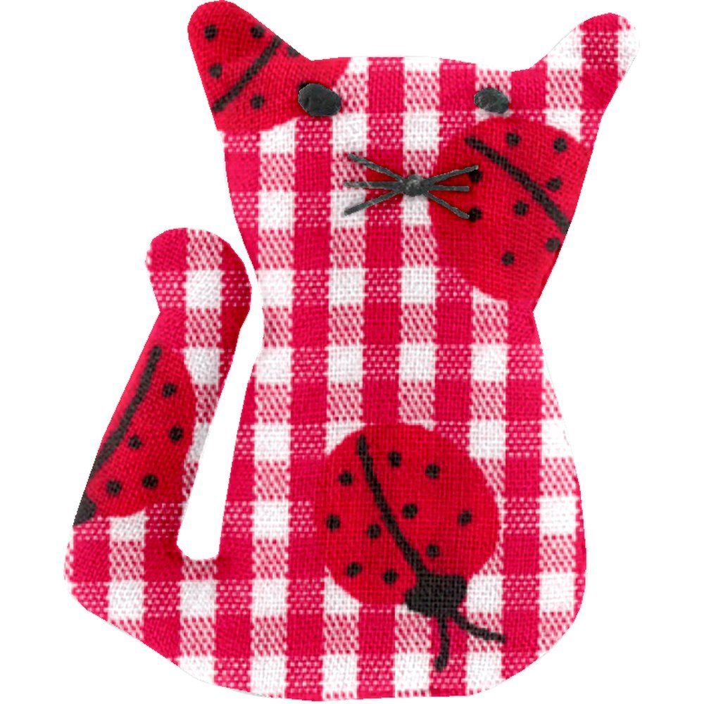 Small cat hair slide ladybird gingham