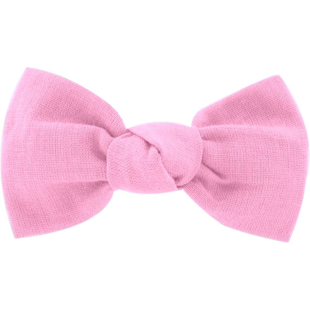 Small bow hair slide pink - light cotton canvas