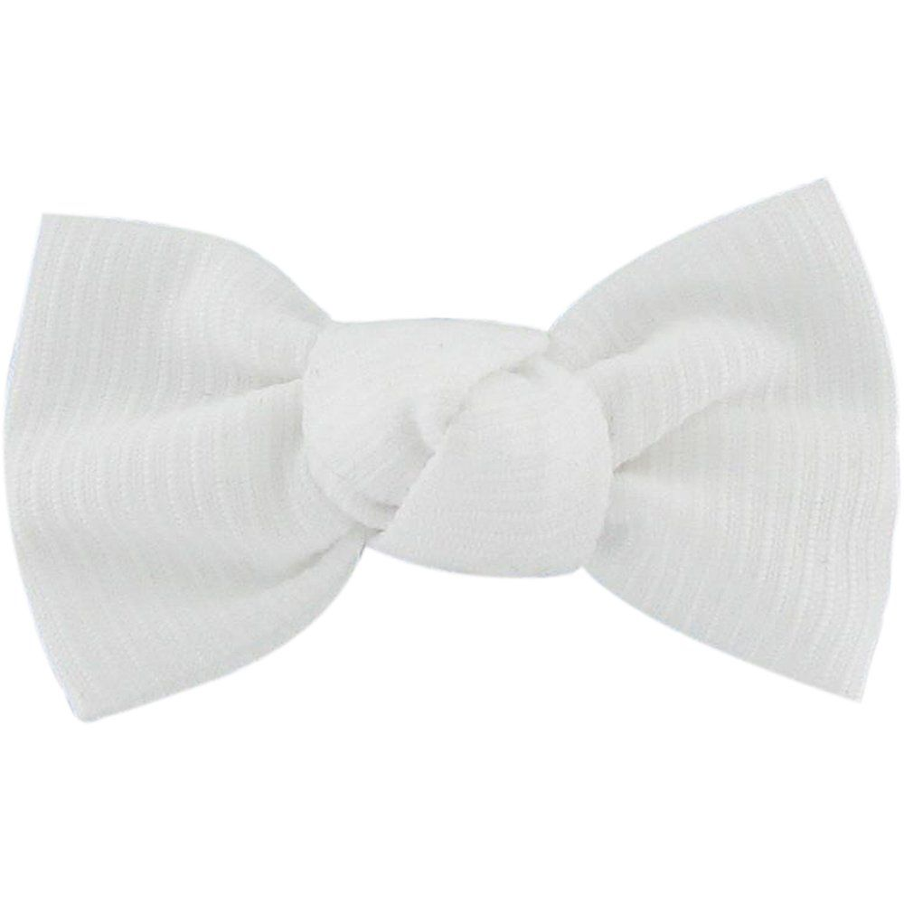 Small bow hair slide white