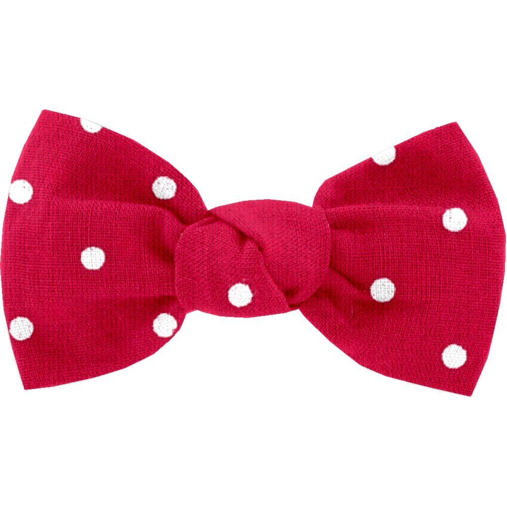 Small bow hair slide red spots