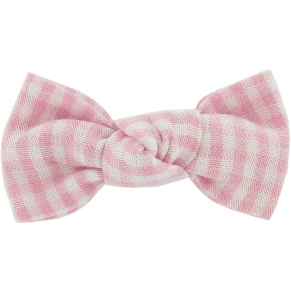 Small bow hair slide pink gingham