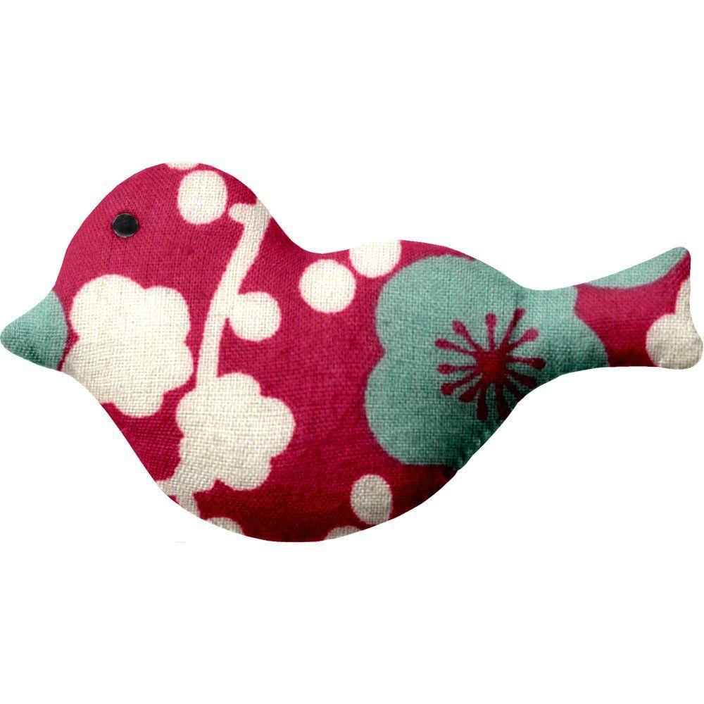 Pasador pequeño pájaro cerezo rubí