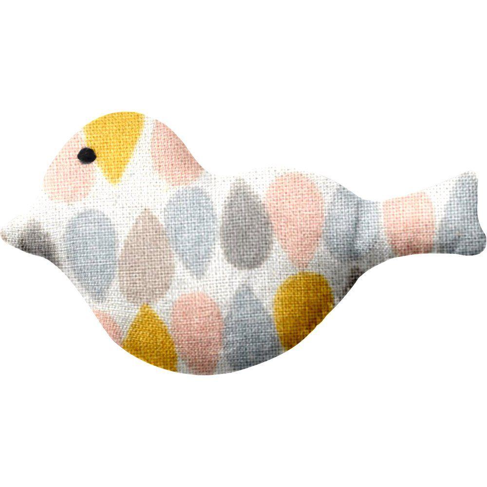 Petite barrette oiseau gouttes pastel