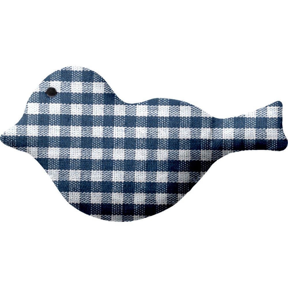 Bird hair slide navy blue gingham