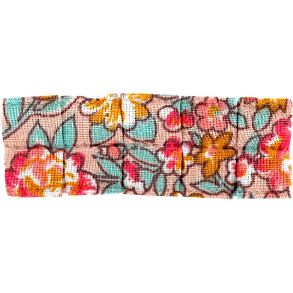 Pasador plisado pequeño cuadrado de flores