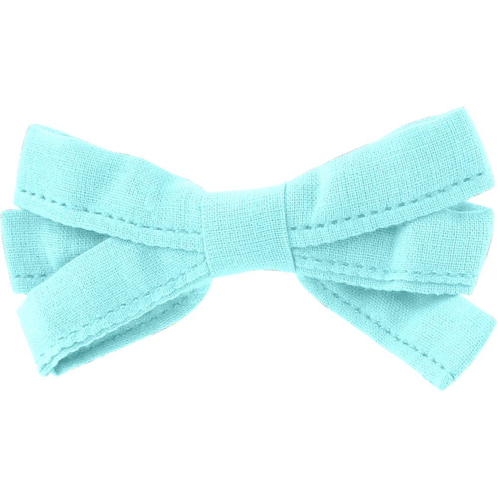 Ribbon bow hair slide azur