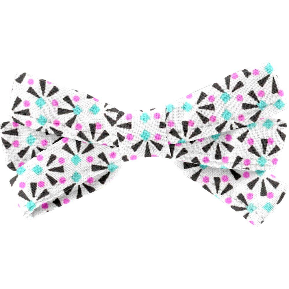 Ribbon bow hair slide neon shards